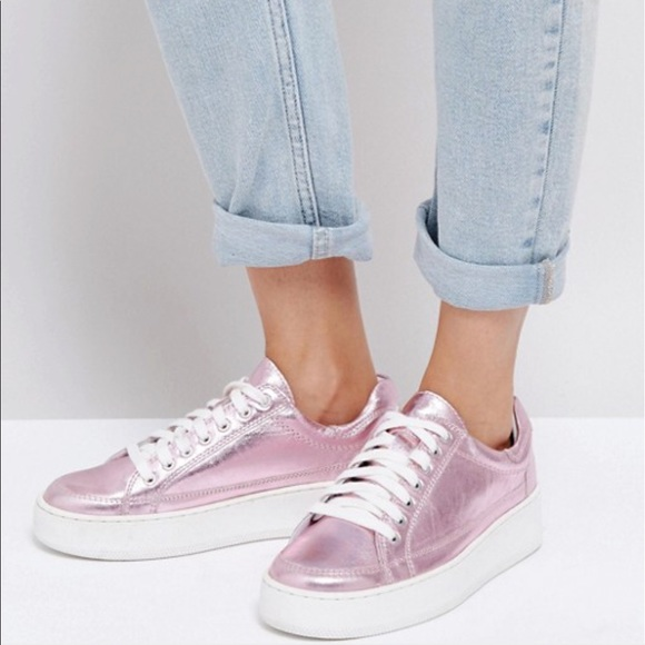 Free People Metallic Sneakers Nwt Pink 3jLq54AR