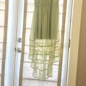 Urban Outfitters Olive Green Lace Maxi Dress