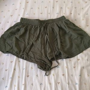 Forever 21 flowy green shorts