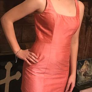 Bebe salmon cocktail dress.