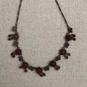 Anthropologie Necklace with Rubies
