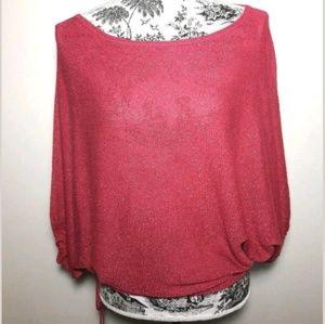 Express Design Studio Pink Shimmer Blouse Size M.
