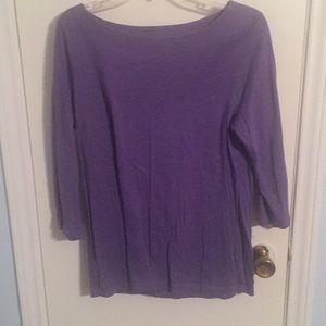 Boatneck lavender 3/4 sleeve shirt from Loft