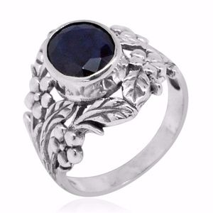 Sapphire Silver Ring Avail 12-6-2017