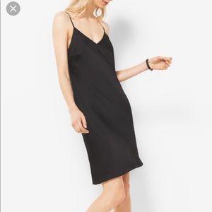 Michael Kors Black bias cut slip dress.