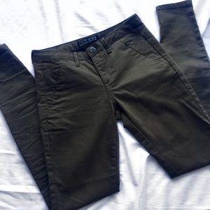Zara Basic Z1975 Olive Green Jeans