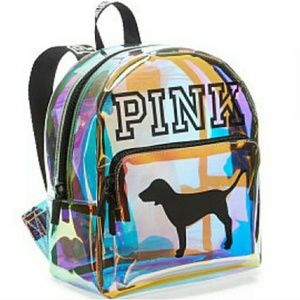 Pink Iridescent Backpack