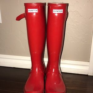 Red Hunter adjustable rain boots ❤️