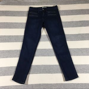 Abercrombie High Waisted Zipper Jeans Ankle Length
