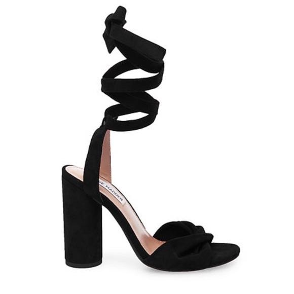 03935964e67 BLACK SUEDU Steve Madden Clary Heels