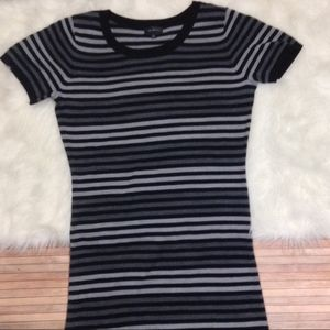 The Limited Sweater Dress Striped Short Sleeve