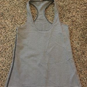 Black and white checkered Lululemon tank top