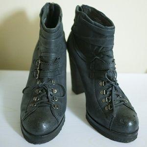 Free People leather heeled hiker