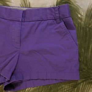 J. Crew Purple Broken In Chino Shorts Size 8