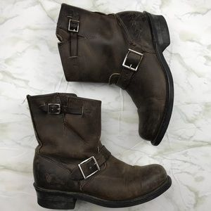 Frye Veronica Shortie Dark Brown Boots Size 8.5