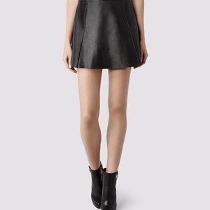 "All Saints ""Sens"" Leather Skirt"