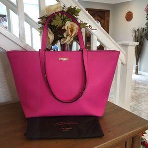 Kade Spade Hot pink color leather