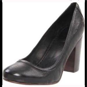 "Frye Carson 3"" high heels black leather 8.5-9"