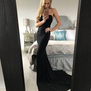 Strapless Black Cocktail/Formal/Black Tie Dress