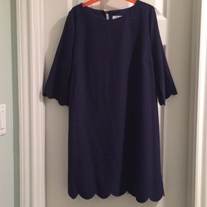 Tobi Navy scalloped dress