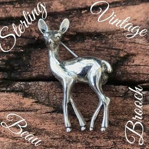 Sterling Silver Vintage BEAU Doe Brooch/Pin