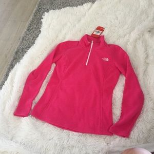 The north face women glacier jacket pink small new