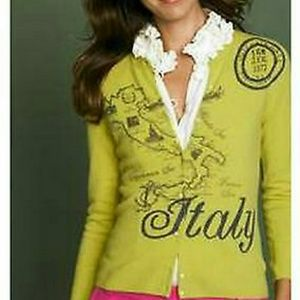 Rare J Crew Map of Italy Sweater Cashmere Blend