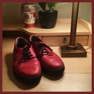 Mephisto Red Leather Sneakers