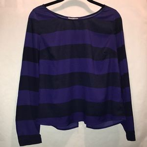 Urban outfitters blue and purple striped shirt