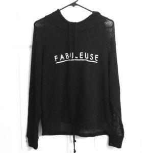 """H&M Black """"FABULEUSE"""" Hoodie"""
