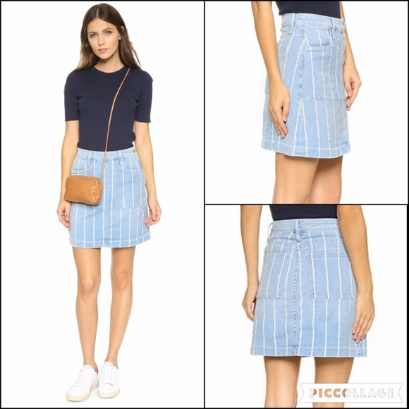 Frame Denim Dresses & Skirts - Frame Denim Le Francoise Barrington Striped Skirt