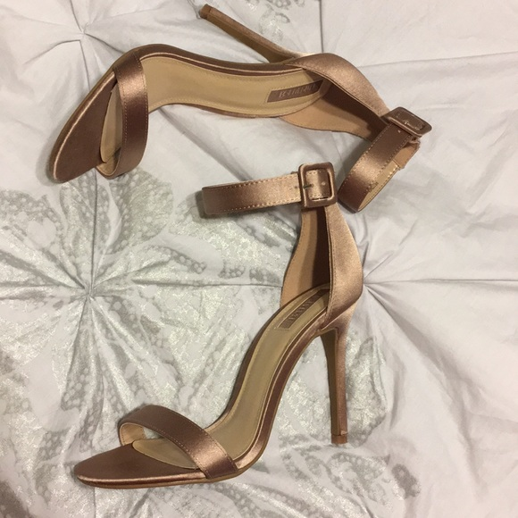 1d8fc2b1e1a Forever 21 Shoes - 👠 Forever 21 Satin Rose Gold Mauve Strappy Heels