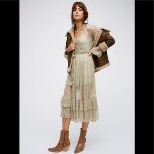 Free People Sheer metallic dress