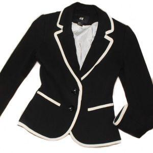 H&M Black & White Blazer