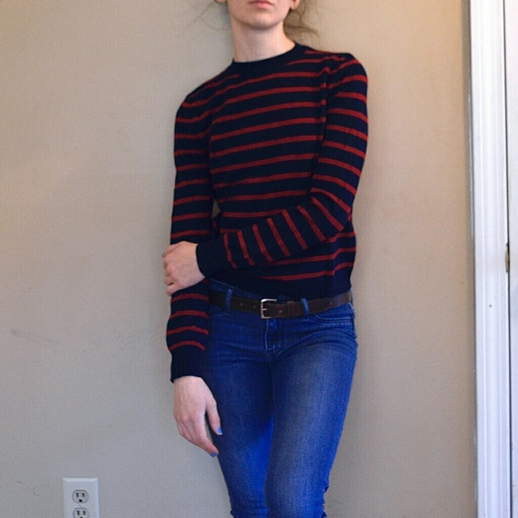40% off Forever 21 Sweaters - Forever 21 Red and Navy Striped ...