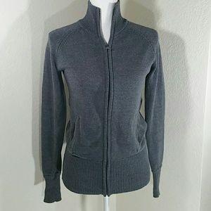 ZARA Full Zipper Gray Cardigan