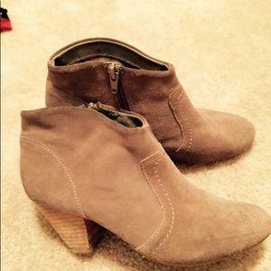Aldo Bone Suede Leather Booties Size 7