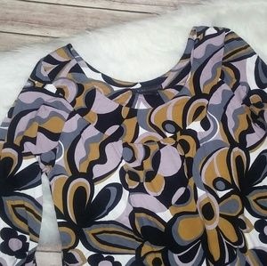 BCBG Maxazria Geometric Floral Print Tunic Dress