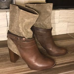 🌸NWOT VINCE leather and suede boots