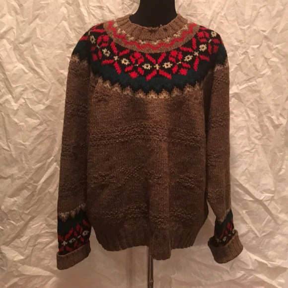 GAP - Gap hand Knit fair isle wool Crewneck sweater from Melissa's ...
