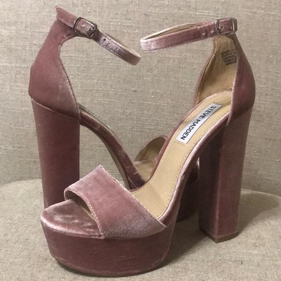 742b96d13ed Steve Madden Blush Gonzo-V platform heels. M 5a17768d41b4e02adc048111