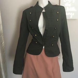 Forever 21 Olive Military Jacket