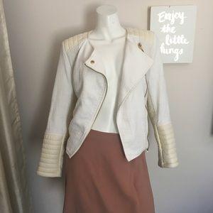 H&M Cream Colored Tweed Jacket