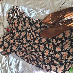 Corset back Floral baby doll dress - D I V I D E D