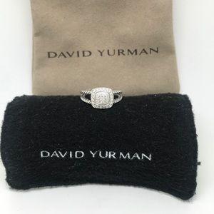 David Yurman Petite Albion Ring Pave Diamonds