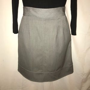 Sharagano gray pencil style skirt