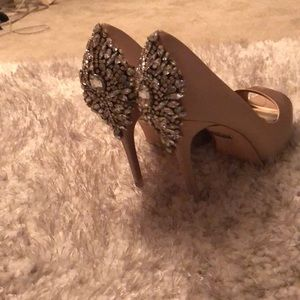 Badgley Mischka heels. Wore for wedding.