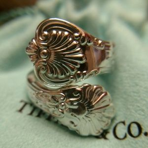 Antique 1885 Tiffany & CO Spoon Ring 925