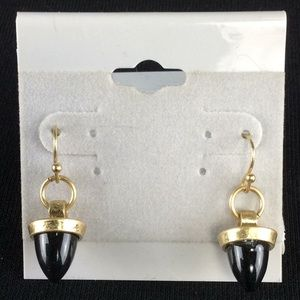 Jewelry - New Gold and Black Dangle Earrings