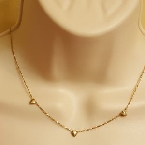 Authentic 14k Hearts Necklace